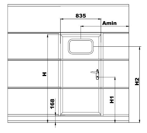 секционные ворота алютех минимальный размер проема с калиткой